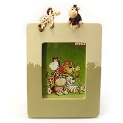 니키 와일드2 캐릭터 액자 3종택1(원숭이+기린/사자+호랑이)