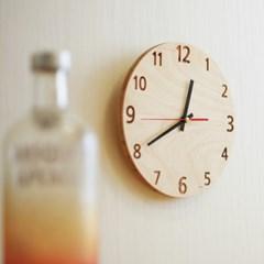JWK 하프타임 자작나무 시계 선물용품 인테리어 소품