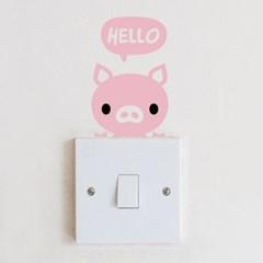 [스위치 스티커]안녕 돼지