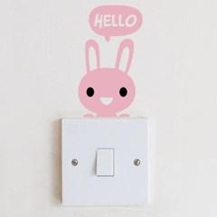 [스위치 스티커]안녕 토끼