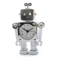 양철 로봇 알람시계 - 실버로봇
