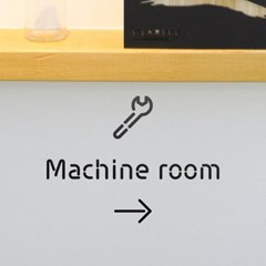 Pictogram Signage: Machineroom Pack