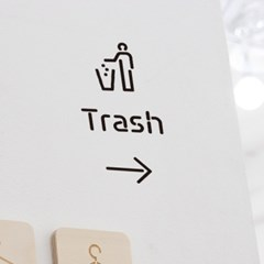 Pictogram Signage: Trash Pack