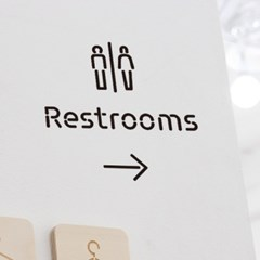 Pictogram Signage: Restrooms Pack