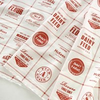 American reproduction feedsack Red Pattern cotton_1마