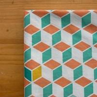 파스텔북유럽패턴-Cube Repeat Pattern 워터버블워싱 코튼_1마
