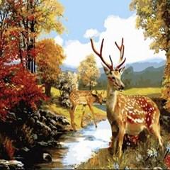 (내가그리는명화)B167-꽃사슴