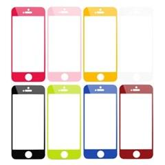 아이폰5용 컬러 펄 스킨 지문방지 보호필름 (8색상 중 선택)
