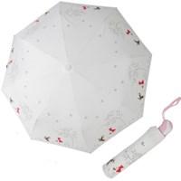 A0475 두건소녀 크림 3단자동우산