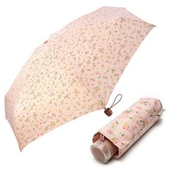[VOGUE] 보그 5단 수동 우산(양산겸용) - 소녀에게(핑크)