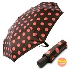 [VOGUE] 보그 3단 안전중봉 자동우산(양산겸용) - 도트홀릭(BR)