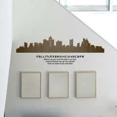 [우드스티커] 시티스케이프(컬러완제품)