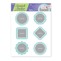 Doily scratch sticker