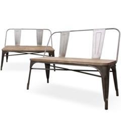 iron woodcut bench(아이언 우드컷 벤치)