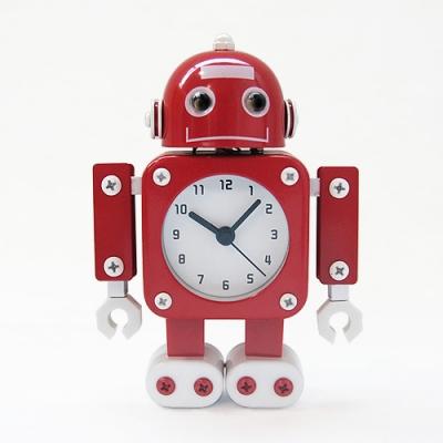 무소음 메탈로봇 알람 시계