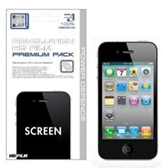 아이폰4/4S 레볼루션HD 올레포빅 투명유광 액정보호필름