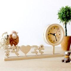 자작나무 한글 이니셜시계 땡글 K