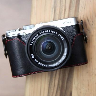 Fujifilm X-M1 & X-A1 & X-A2 속사케이스 - 블랙레드