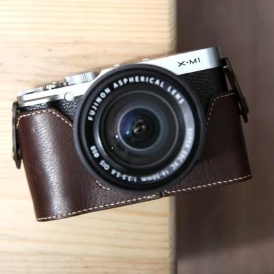Fujifilm X-M1 & X-A1 & X-A2 속사케이스 - 다크브라운
