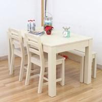 모노 빈티지 원목 테이블 세트(소나무)