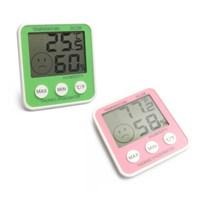 온도와 습도에 따라 표정이 변하는 온습도계