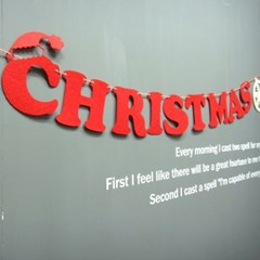 눈꽃 크리스마스 가렌드