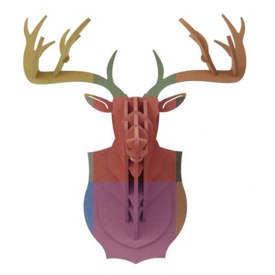 wood 사슴 머리 장식