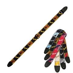 [Fender] Monogrammed Straps - (Black-Yellow-Brown) 펜더 스트랩