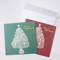 White Christmas Tree Card