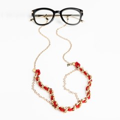 MODS TENDER / red_EYE GLASS CHAIN