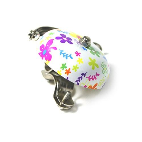 자전거 꽃 무늬 벨