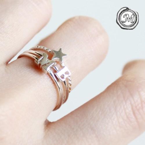 실버 이니셜 반지 silver initial ring(A~Z선택)