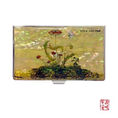 [신사임당] 초충도 - 양귀비와 흰나비 자개 휴대명함집