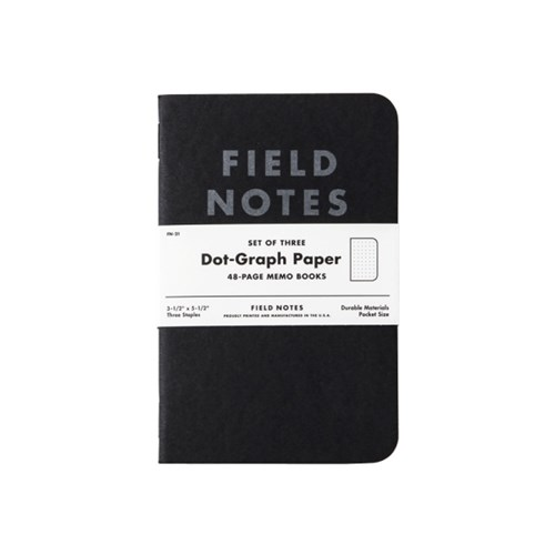 [FIELD NOTES] PITCH BLACK - 3 PACKS