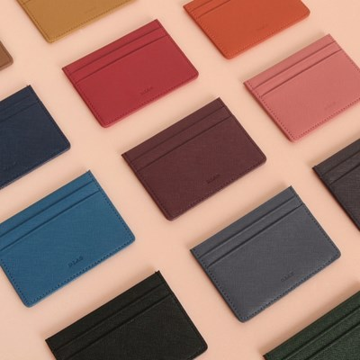 D.LAB Leather simple card wallet - 13 color