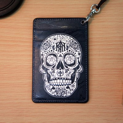 (new) Vintage card case (skull)