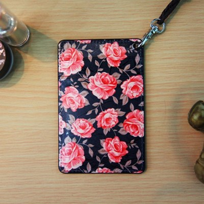 (new) Vintage card case (Navy Flower)