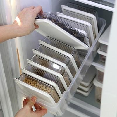 센스 냉장고정리 고급형B (트레이 대1개 + 소분용기 대1호9p