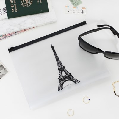Clear Travel Pouch - Eiffel Tower
