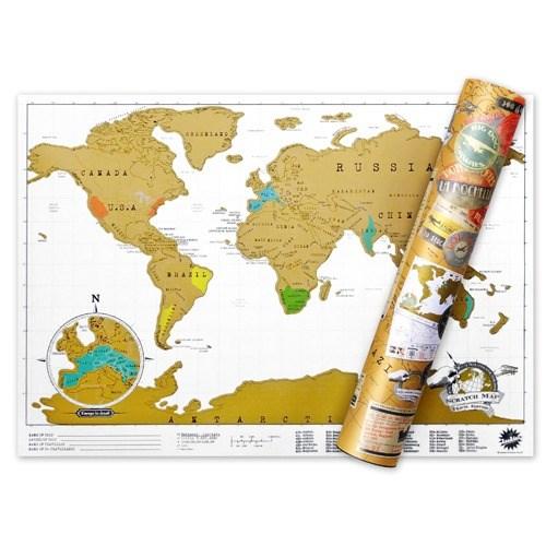 [원더스토어] 럭키스 스크래치 맵 세계지도 (소형사이즈)