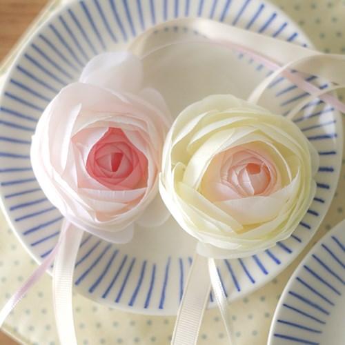 브라이덜샤워 꽃팔찌-핑크 라넌큘러스