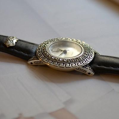 marcie leather watch