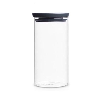 [브라반티아] 유리 밀폐용기 1.1L 다크그레이