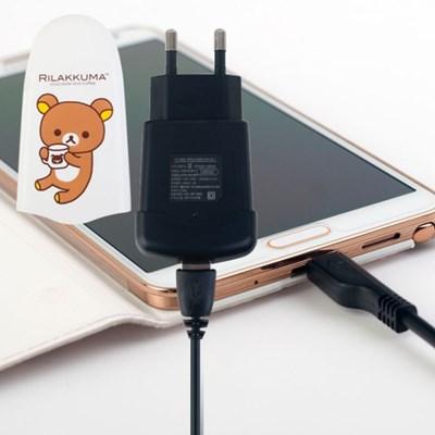 리락쿠마 휴대용 스마트폰  급속 충전기 2A (5Pin 케이블포함)