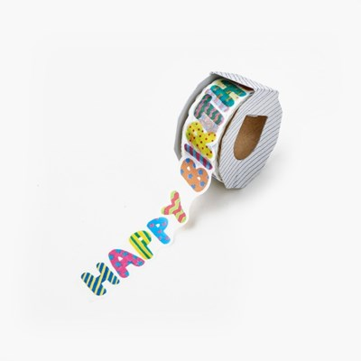 [AIUEO] Masking tape katanuki - happy birthday