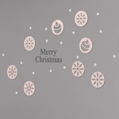 [우드스티커] 크리스마스 오너먼트 02 (컬러완제품)