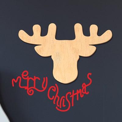 [우드스티커] 크리스마스 루돌프 03 (반제품)