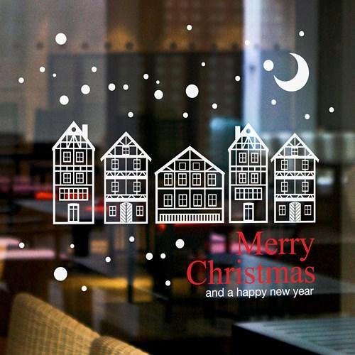크리스마스 마을 / 그래픽스티커
