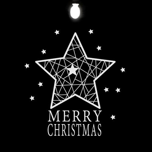 크리스마스 별 / 그래픽스티커