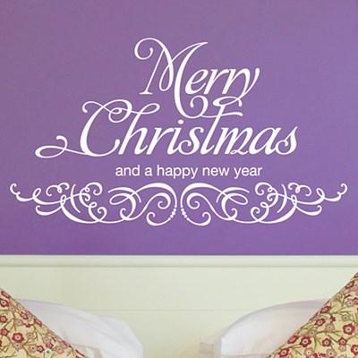메리 크리스마스 스티커 (타이포) / 그래픽스티커